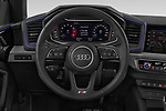 Car pictures of steering wheel view of a 2019 Audi A1-Sportback S-Line 5 Door Hatchback Steering Wheel