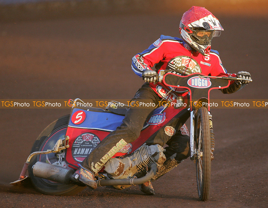 Heat 4 -Adam Shields of Lakeside - Lakeside Hammers vs Reading Racers - Sky Sports Elite League at Arena Essex, Purfleet - 03/08/07 - MANDATORY CREDIT: Gavin Ellis/TGSPHOTO - SELF-BILLING APPLIES WHERE APPROPRIATE. NO UNPAID USE. TEL: 0845 094 6026..