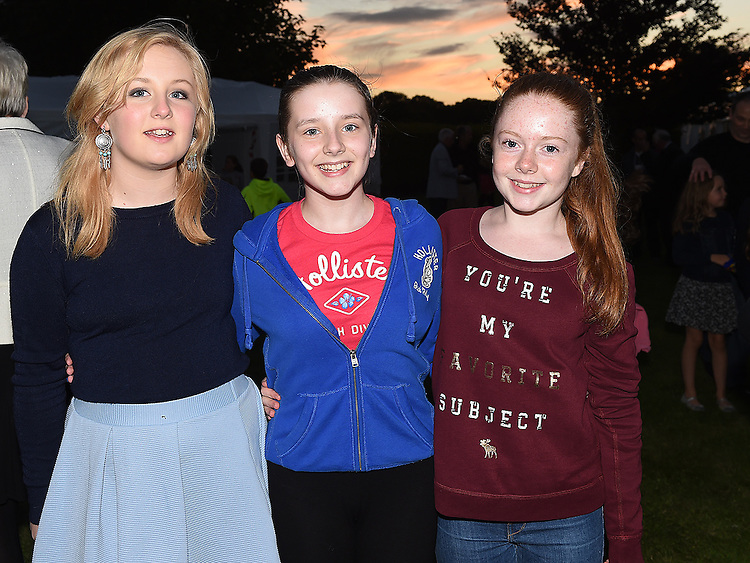 Eva Atkinson, Anja Meidl and Aine Kerr pictured at the 25th anniversary celebrations of Star of the Sea church Mornington. Photo:Colin Bell/pressphotos.ie