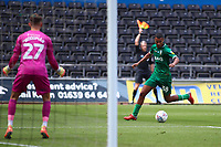 5th July 2020; Liberty Stadium, Swansea, Glamorgan, Wales; English Football League Championship, Swansea City versus Sheffield Wednesday; Alessio da Cruz of Sheffield Wednesday makes a run through on goal but came from an offside position