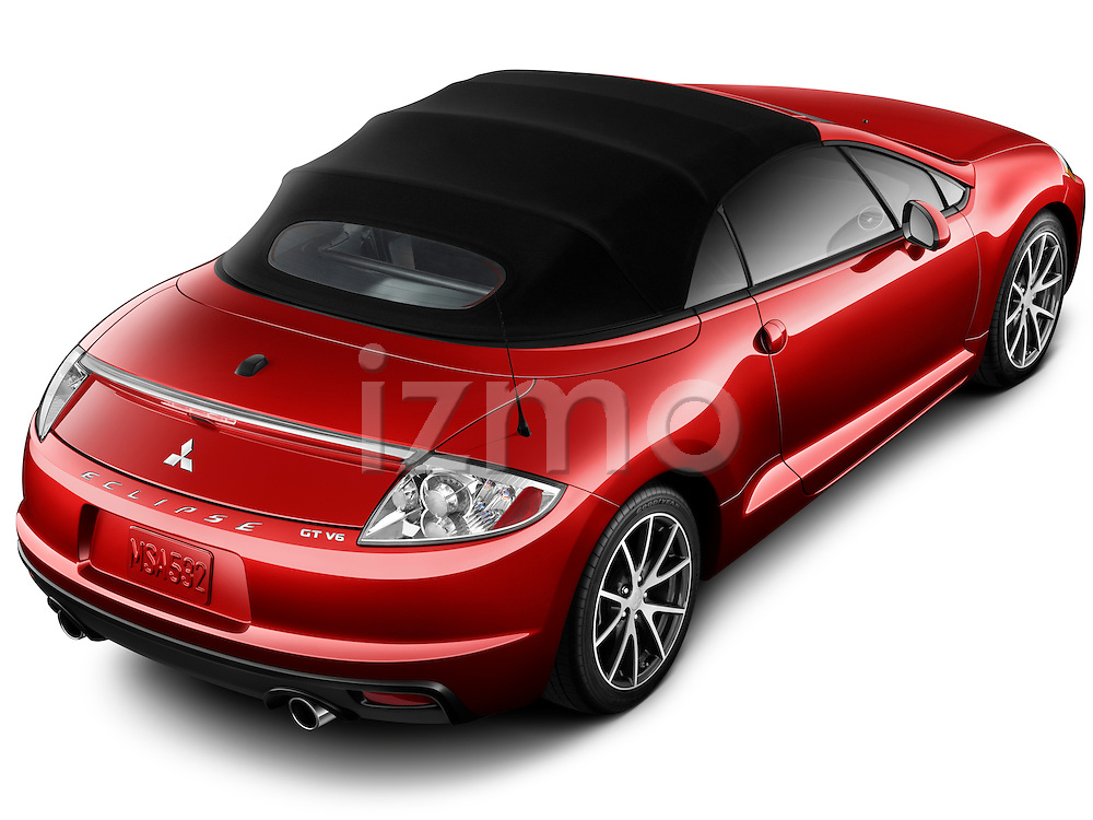 High angle passenger side view of a 2011 Mitsubishi Eclipse Spyder