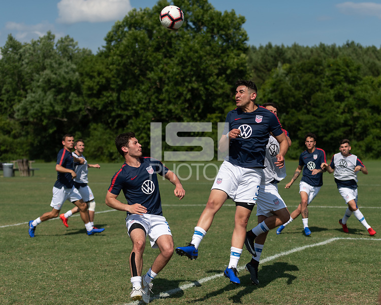 Rome, GA - Friday, June 21, 2019:  David Garza during a Para 7 USMNT training session.