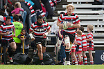 Jamie Chipman leads the Steelers out for the ITM Cup rugby game between Counties Manukau Steelers and Northland, played at Bayer Growers Stadium, Pukekohe, on Sunday September 26th 2010..The Counties Manukau Steelers won 40 - 24 after leading 27 - 7 at halftime.
