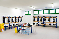 A general view of Bath Rugby jerseys hung up in the changing rooms prior to the match. European Rugby Champions Cup match, between Benetton Rugby and Bath Rugby on January 20, 2018 at the Municipal Stadium of Monigo in Treviso, Italy. Photo by: Patrick Khachfe / Onside Images