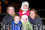 Pictured at the Aquadome fireworks on New Year's Eve were l-r: Seamus and Darragh Murphy, Orla Murphy Niamh Murphy and Therese Enright.