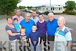 Matt Murphy right and resdidents in Anglont, Killorglin who are objecting to a proposed piggery being built in the area l-r: Cora, Joe, Dan and Ben O'Dwyer back row l-r: Cllr Michael Cahill, Tom Moriarty, Cllr Damian Quigg, Cllr John Francis Flynn and Batt Moriarty