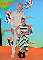 LOS ANGELES, CA. March 23, 2019: Machine Gun Kelly & Search Results Machine Gun Kelly & Casie Colson Baker at Nickelodeon's Kids' Choice Awards 2019 at USC's Galen Center.<br /> Picture: Paul Smith/Featureflash