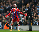 Franck Ribery of Bayern Munich gets his opinion across - UEFA Champions League group E - Manchester City vs Bayern Munich - Etihad Stadium - Manchester - England - 25rd November 2014  - Picture Simon Bellis/Sportimage