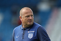 England coach during the International match between England U19 and Netherlands U19 at New Bucks Head, Telford, England on 1 September 2016. Photo by Andy Rowland.