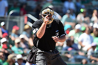 Umpire Marvin Hudson during a Spring Training game between the New York Mets and Boston Red Sox on March 17, 2015 at JetBlue Park at Fenway South in Fort Myers, Florida.  Boston defeated New York 4-3.  (Mike Janes/Four Seam Images)