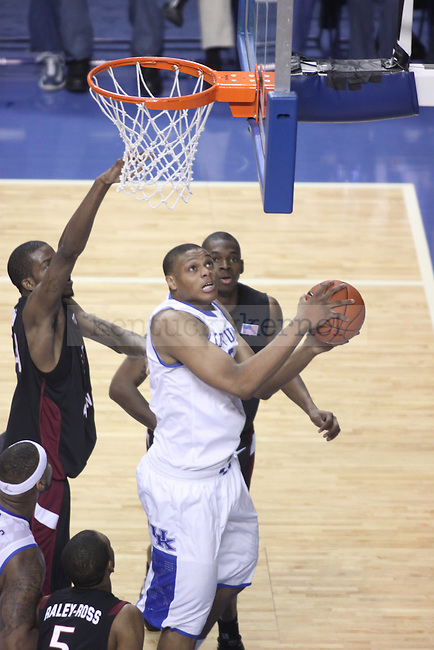 UK freshman forward Daniel Orton goes to the basket against South Carolina at Rupp Arena on Thursday, Feb. 25, 2010. Photo by Scott Hannigan | Staff