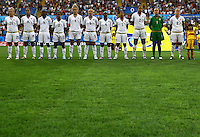 Team USA during the opening ceremony during the FIFA U20 Women's World Cup at the Rudolf Harbig Stadium in Dresden, Germany on July 17th, 2010.