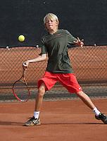 August 6, 2014, Netherlands, Rotterdam, TV Victoria, Tennis, National Junior Championships, NJK,  Liam Liles (NED)<br /> Photo: Tennisimages/Henk Koster