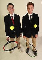 NWA Democrat-Gazette/MICHAEL WOODS • @NWAMICHAELW<br /> Boys Doubles Team of the Year, Payne Henry (left) and Moss Matthews of Rogers High, Thursday, November 19, 2016.