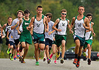 Woodlawn Varsity Cross Country runners compete at  Renaissance Park in Charlotte, North Carolina.<br /> <br /> Charlotte Photographer - PatrickSchneiderPhoto.com