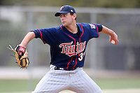 March 18, 2010:  Pitcher Kyle Carr (31) of the Minnesota Twins organization during Spring Training at the Ft. Myers Training Complex in Ft. Myers, FL.  Photo By Mike Janes/Four Seam Images