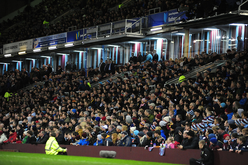 Burnley fans during the second half <br /> <br /> Photographer Chris Vaughan/CameraSport<br /> <br /> Football - Barclays Premiership - Burnley v Manchester City - Saturday 14th March 2015 - Turf Moor - Burnley<br /> <br /> &copy; CameraSport - 43 Linden Ave. Countesthorpe. Leicester. England. LE8 5PG - Tel: +44 (0) 116 277 4147 - admin@camerasport.com - www.camerasport.com