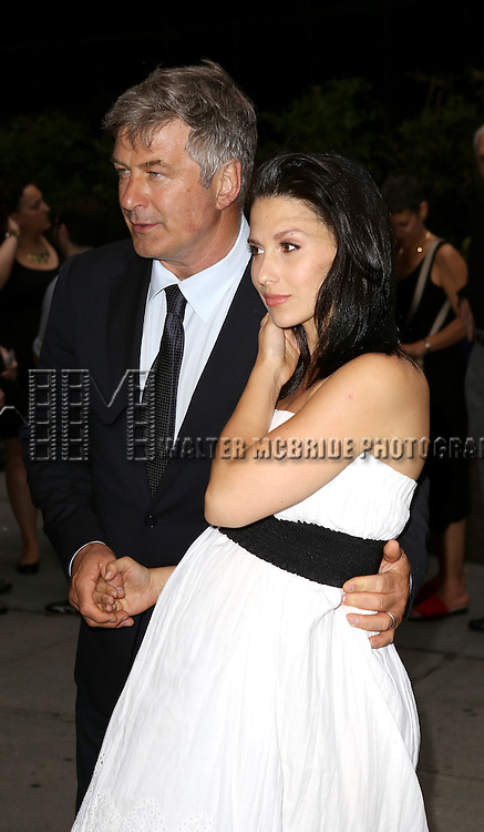 Alec Baldwin & Hilaria Baldwin attend 'The Unavoidable Disappearance Of Tom Durnin' Opening Night at Laura Pels Theatre on June 27, 2013 in New York City.