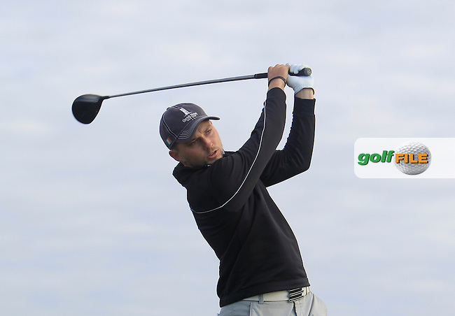 Keith Egan (Carton House) on the 2nd tee during Matchplay Round 1 of the South of Ireland Amateur Open Championship at LaHinch Golf Club on Friday 24th July 2015.<br /> Picture:  Golffile | Thos Caffrey