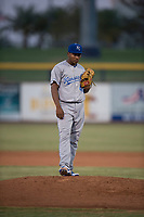 AZL Mariners starting pitcher Yohanse Morel (40) during an Arizona League game against the AZL Royals at Peoria Sports Complex on July 25, 2018 in Peoria, Arizona. The AZL Mariners defeated the AZL Royals 5-3. (Zachary Lucy/Four Seam Images)