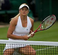 Alexandra Wozniak (CAN) (23) against Francesca Schiavone (ITA) in the frst round of the Ladies SIngles. Schiavone beat Wozniak 5-6 6-4 6-4..Tennis - Wimbledon - Day 9 - Wed 1st July 2009 - All England Lawn Tennis Club  - Wimbledon - London - United Kingdom..Frey Images, Barry House, 20-22 Worple Road, London, SW19 4DH.Tel - +44 20 8947 0100.Cell - +44 7843 383 012