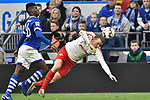 16.03.2019, VELTINS-Arena, Gelsenkirchen, GER, DFL, 1. BL, FC Schalke 04 vs RB Leipzig, DFL regulations prohibit any use of photographs as image sequences and/or quasi-video<br /> <br /> im Bild v. li. im Zweikampf Breel Embolo (#36, FC Schalke 04) Lukas Klostermann (#16, RB Leipzig) <br /> <br /> Foto © nph/Mauelshagen