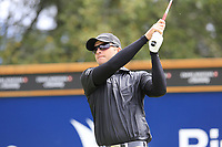 Dean Burmester (RSA) tees off the 8th tee during Sunday's Final Round of the 2017 Omega European Masters held at Golf Club Crans-Sur-Sierre, Crans Montana, Switzerland. 10th September 2017.<br /> Picture: Eoin Clarke | Golffile<br /> <br /> <br /> All photos usage must carry mandatory copyright credit (&copy; Golffile | Eoin Clarke)