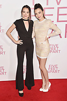 WESTWOOD, CA - MARCH 07: Veronica Merrell (L) and Vanessa Merrell attend the Premiere Of Lionsgate's 'Five Feet Apart' at Fox Bruin Theatre on March 07, 2019 in Los Angeles, California.<br /> CAP/ROT/TM<br /> &copy;TM/ROT/Capital Pictures