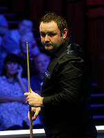 27th February 2020; Waterfront, Southport, Merseyside, England; World Snooker Championship, Coral Players Championship; Stephen Maguire (SCO) lines up his next shot during his quarter-final match against Mark Selby (ENG)