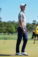 Chris Wood (ENG) reacts to barely missing his putt on 12  during round 2 of the Shell Houston Open, Golf Club of Houston, Houston, Texas, USA. 3/31/2017.<br /> Picture: Golffile | Ken Murray<br /> <br /> <br /> All photo usage must carry mandatory copyright credit (&copy; Golffile | Ken Murray)