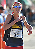 Leonora Petrina of Bayport legs out the final stretch of Northport's annual Cow Harbor 10K run on Saturday, Sept. 17, 2016. She was the first female Long Islander to cross the finish line and took third overall among women with a time of 34:02.59.