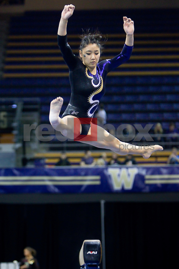 The University of Washington gymnastics team defeated Arizona State University at Alaska Airlines Arena on the campus of the UW in Seattle on March 2, 2012.(Photo by Scott Eklund/Red Box Pictures) Hatsune Akaogi