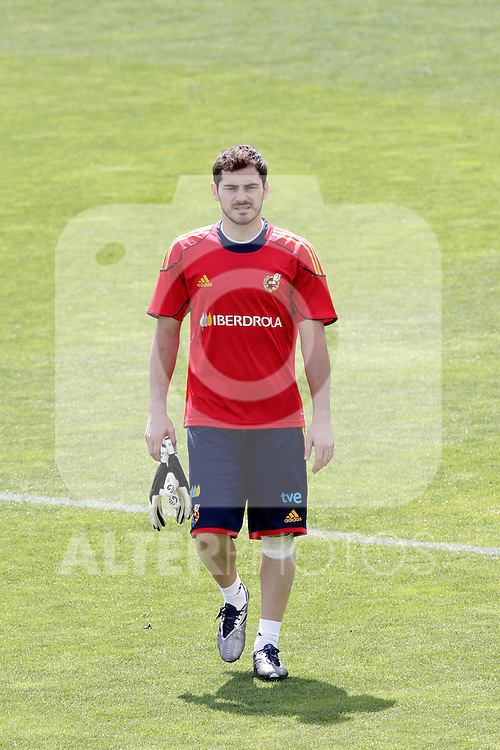 MADRID (25/05/09).- The Spanish Soccer national training session.  Iker Casillas...PHOTO: Cesar Cebolla / ALFAQUI