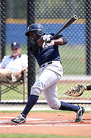 New York Yankees minor league player infielder Jose Pirela #29 at bat during a game vs the Toronto Blue Jays at the Englebert Minor League Complex in Dunedin, Florida;  March 21, 2011.  Photo By Mike Janes/Four Seam Images