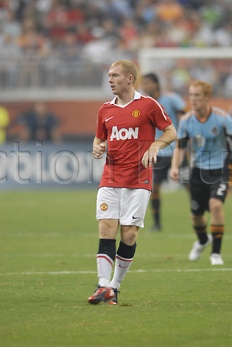 July 28 2010: Manchester United's Paul Scholes during 5 - 2 win over the MLS All Stars at Reliant Stadium in Houston, TX.