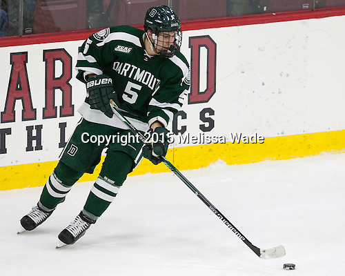 Tim Shoup (Dartmouth - 5) - The Harvard University Crimson defeated the Dartmouth College Big Green 5-2 to sweep their weekend series on Sunday, November 1, 2015, at Bright-Landry Hockey Center in Boston, Massachusetts. -