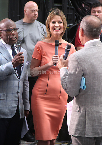 August 15, 2012 Al Roker, Savannah Guthrie, Matt Lauer host of NBC's Today Show Toyota Concert Series at Rockefeller Center in New York City..Credit:© RW/MediaPunch Inc.