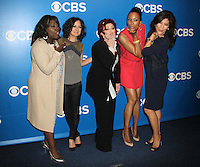 Sheryl Underwood, Sara Gilbert, Sharon Osbourne, Aisha Tyler, and Julie Chen at the 2012 CBS Upfront at The Tent at Lincoln Center on May 16, 2012 in New York City. © RW/MediaPunch Inc.
