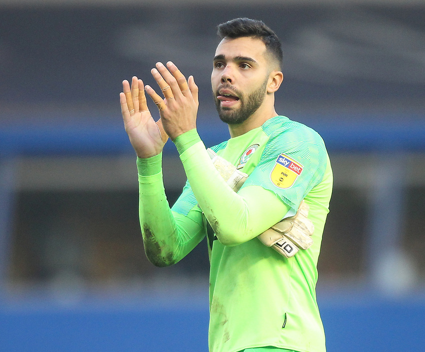 Blackburn Rovers David Raya<br /> <br /> Photographer Mick Walker/CameraSport<br /> <br /> The EFL Sky Bet Championship - Birmingham City v Blackburn Rovers - Saturday 23rd February 2019 - St Andrew's - Birmingham<br /> <br /> World Copyright © 2019 CameraSport. All rights reserved. 43 Linden Ave. Countesthorpe. Leicester. England. LE8 5PG - Tel: +44 (0) 116 277 4147 - admin@camerasport.com - www.camerasport.com