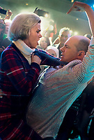 Office Christmas Party (2016)<br /> Promotional art with Rob Corddry &amp; Kate McKinnon                    <br /> *Filmstill - Editorial Use Only*<br /> CAP/KFS<br /> Image supplied by Capital Pictures