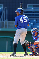 New York Mets Cesar Puello #45 during an intrasquad Instructional League game at City of Palms Park in Fort Myers, Florida;  October 3, 2011.  (Mike Janes/Four Seam Images)