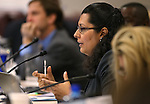 Nevada Assemblywoman Olivia Diaz, D-North Las Vegas, works in committee at the Legislative Building in Carson City, Nev., on Wednesday, Feb. 11, 2015. <br /> Photo by Cathleen Allison