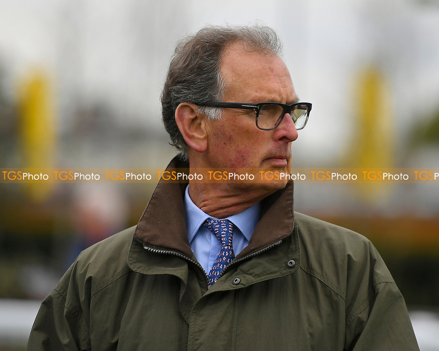 Trainer Roger Charlton during Racing at Newbury Racecourse on 12th April 2019