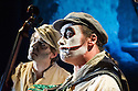 London, UK. 05.09.2013. The Tiger Lillies present THE RIME OF THE ANCIENT MARINER, at the Queen Elizabeth Hall, Southbank Centre. The Tiger Lillies are: Adrian Stout (double bass), Martyn Jacques (vox and piano) and Mike Pickering (drums). Photograph © Jane Hobson.