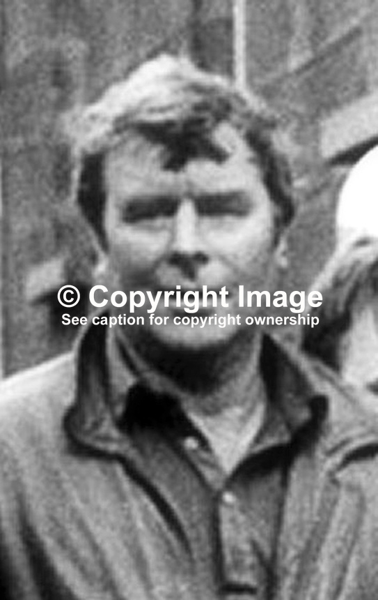Kevin Mallon, Co Tyrone, N Ireland, one of 3 Provisional IRA members who escaped by helicopter from Mountjoy Prison, Dublin, Rep of Ireland, on 31 October 1973. The others were Seamus Twomey and JB O'Hagan. 19731105KM.<br />