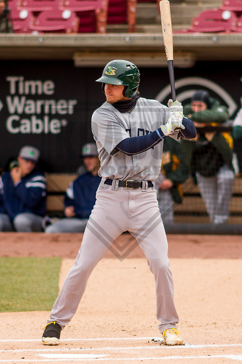 Beloit Snappers outfielder Skye Bolt (1) at bat during a Midwest League game against the Wisconsin Timber Rattlers on April 10th, 2016 at Fox Cities Stadium in Appleton, Wisconsin.  Beloit defeated Wisconsin  4-3. (Brad Krause/Krause Sports Photography)