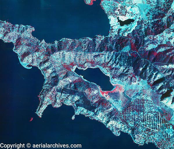 aerial map of southeastern Clear Lake,  Lake County, California, 1973