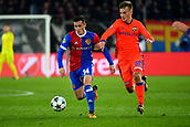31st October 2017, St Jakob-Park, Basel, Switzerland; UEFA Champions League, FC Basel versus CSKA Moscow; Konstantin Kuchaev of CSKA Moscow challenges Taulant Xhaka of FC Basel for the ball