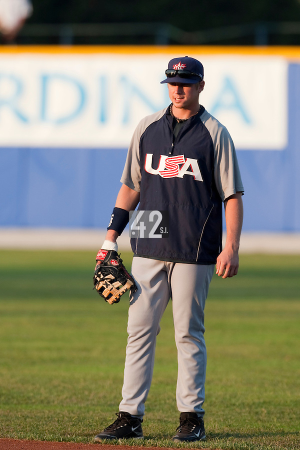 25 September 2009: Justin Smoak of Team USA is seen prior to the 2009 Baseball World Cup final round match won 8-2 by Team USA over Netherlands, in Nettuno, Italy.
