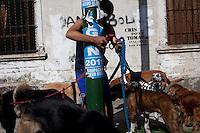 NOV 16 -BUENOS AIRES, ARGENTINA: People enjoy life in La Boca neighborhood of Buenos Aires, Argentina on  Wednesday, November 16, 2011. (Photo by Landon Nordeman)